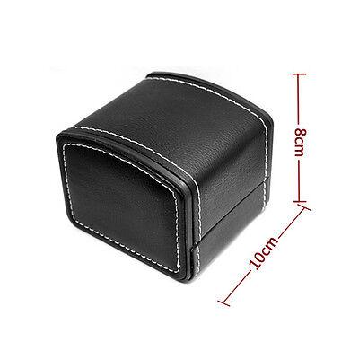PU Leather Organizer Watch Display Case Grid Slot Box Jewelry Storage