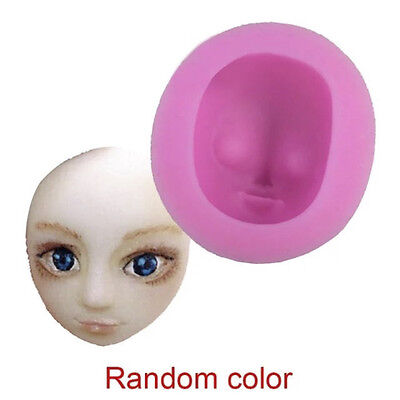 3D Girl Face Beauty Cake Fondant  Mould  Icing Sugarpaste Doll Head Mold DIY