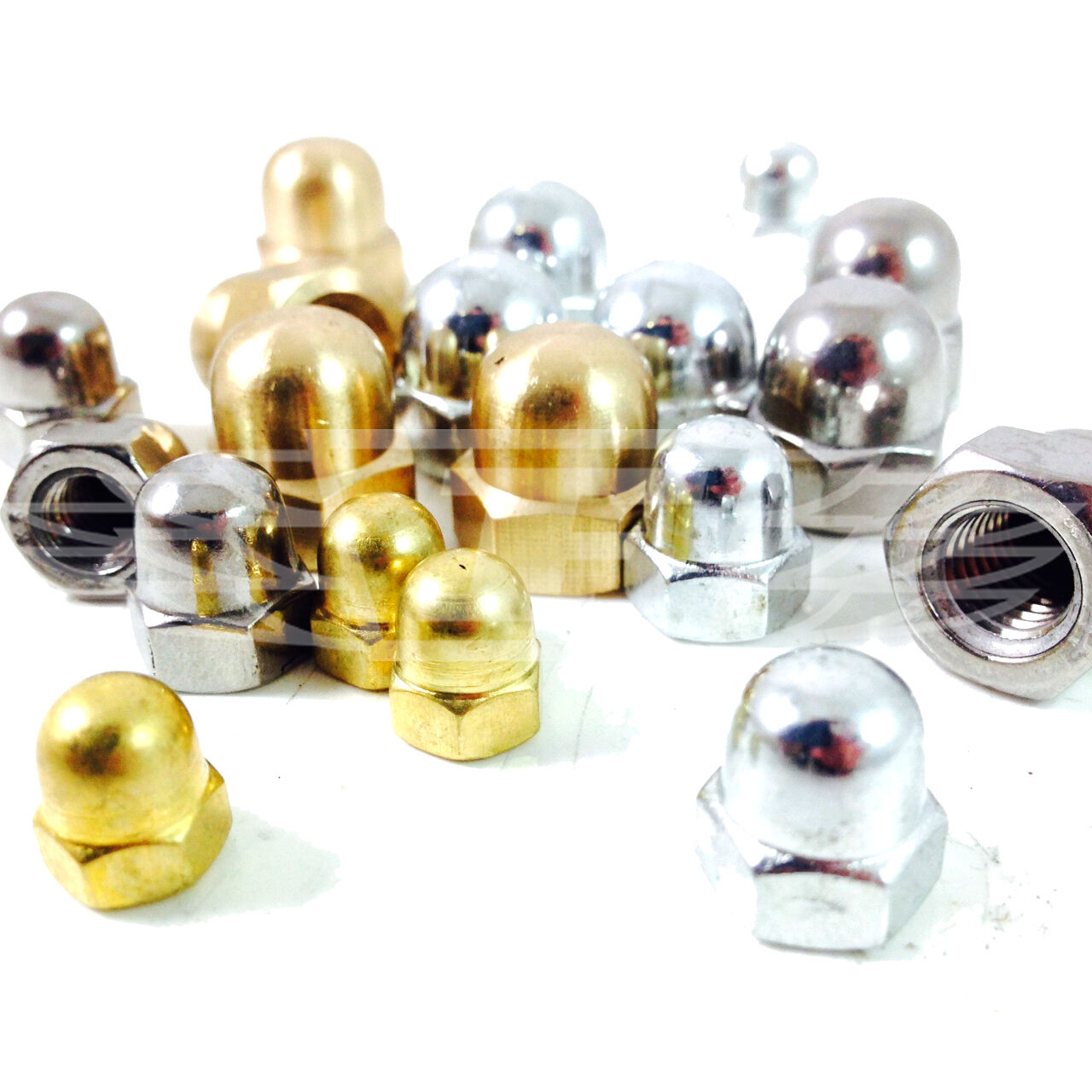 M3 STAINLESS STEEL A2 DOME NUTS QTY = 25