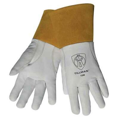 Tillman 1338 Top Grain Goatskin Tig Welding Gloves With 4 Cuff Small