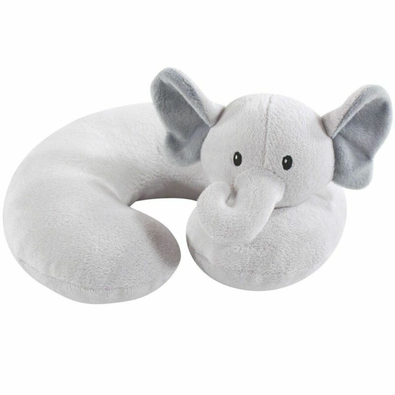 Hudson Baby Travel Neck Support Pillow, Gray Elephant