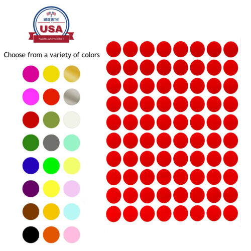 Royal Green 1/2 Inch Round Dot Sticker 13mm Color Coding Marking Adhesive Labels