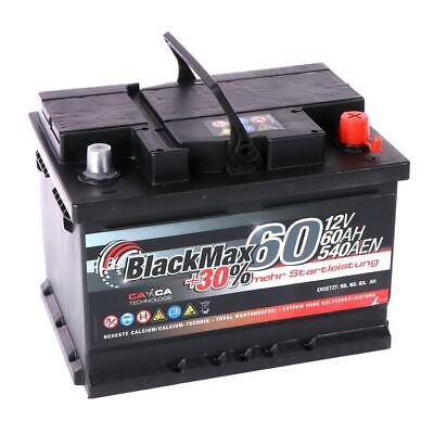 Autobatterie 12V 60Ah BlackMax Starterbatterie ersetzt 52Ah 55Ah 61Ah 62Ah 63Ah