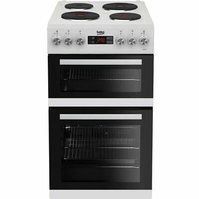 Beko KDV555AW Free Standing A/A Electric Cooker with Solid Plate Hob 50cm White