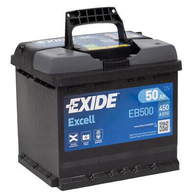 EXIDE EB500 EXCELL Autobatterie Batterie Starterbatterie 12V 50Ah EN450A