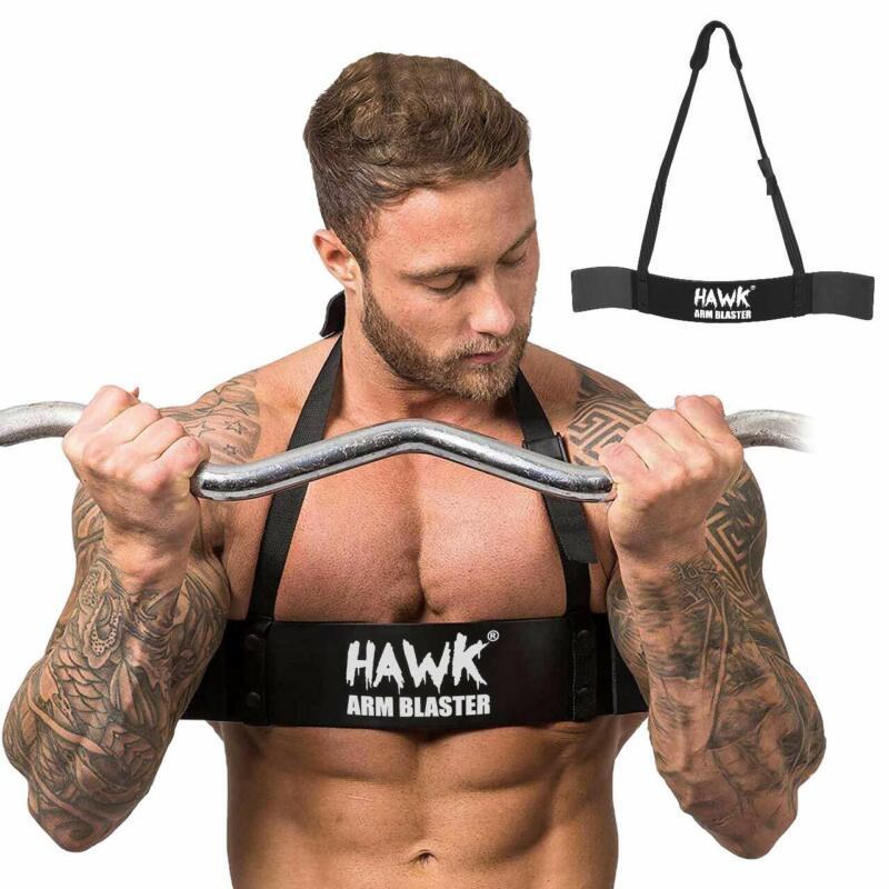 ISLERO Weightlifting Arm Blaster Biceps Isolator Gym Support Strap Bodybuilder W