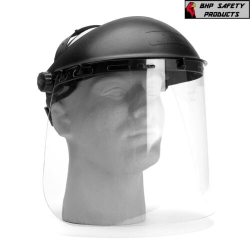 Full Face Safety Shield Flip Up Visor Tool Mask Clear Glasses Eye Protection
