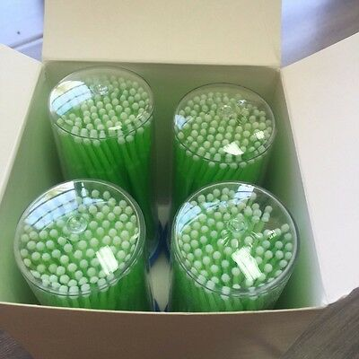 400 4 Kegs Green Dental Micro Brush Lash Tools Regular Tips Usa Seller