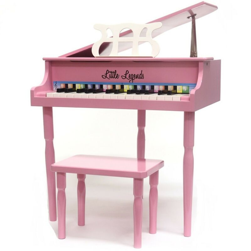 Little Legends LLBGD303P 30-Key Baby Grand Piano with Bench, Pink