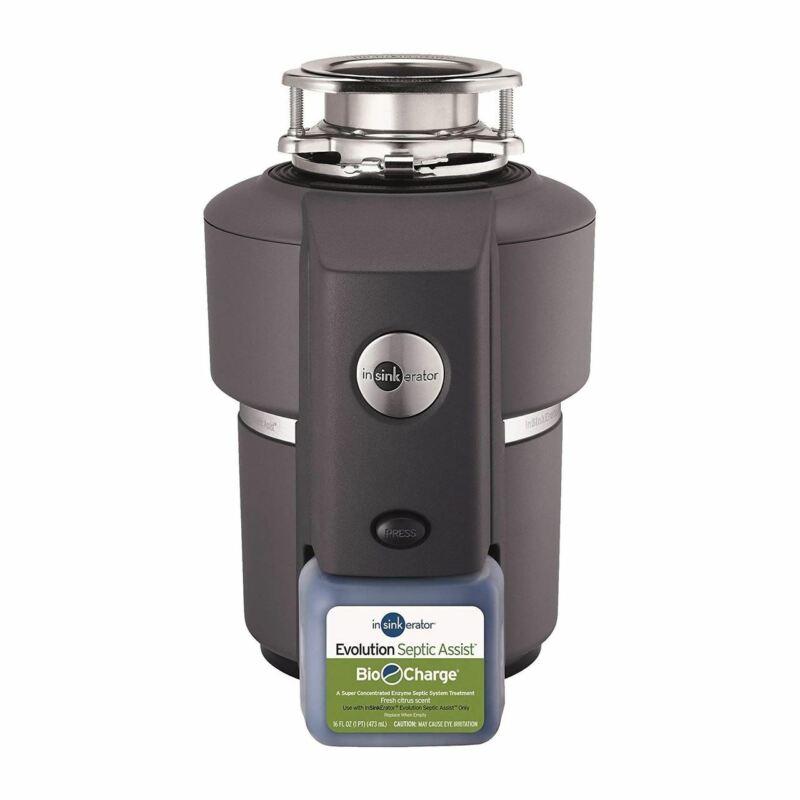 Insinkerator - Evolution Bio Septic Assist 3/4 HP stainless steel Garbage