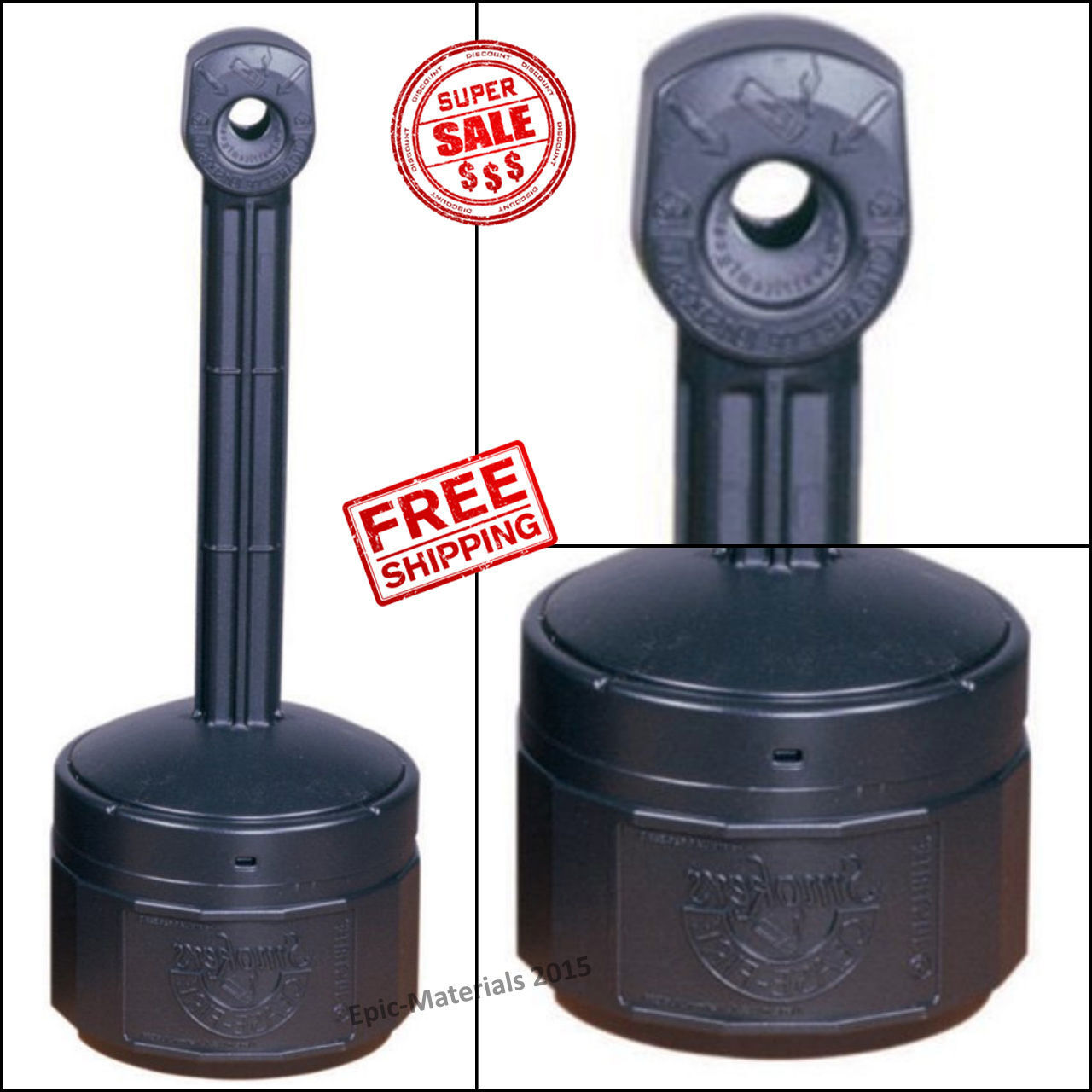 Outside Ashtrays   Outdoor Cigarette Ashtray Smokers Receptacle Butt Holder  Stand Patio Ash Tray