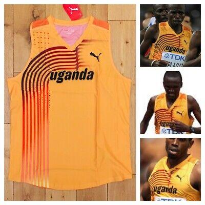 Puma Men's Pro Elite Uganda 2011 World Championship Running Singlet Top Vest New