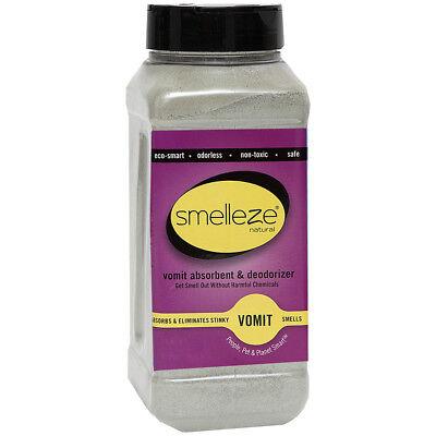 SMELLEZE Eco Vomit Absorbent & Odor Remover: 50 lb. Granules Kills Puke Smell
