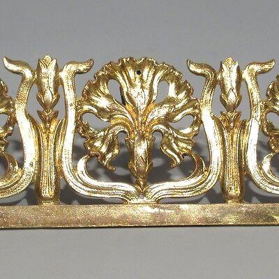 Antique French Art Nouveau Gilded Bronze Furniture Decoration, Carnations