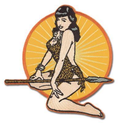 Authentic Retro A Go Go  Bettie Page Jungle Girl Patch 4 75  X 4 75  New