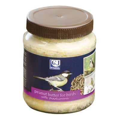 CJ Wildlife Peanut Butter for Birds with Mealworms - Peanut Butter Bird Food