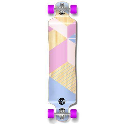 Lowrider Longboard Complete - Geometric Series - Purple