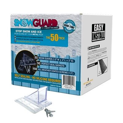50 Stop Snow Sliding Off Your Roof Mini Snow Guard 50 Pack W Gasket Screws
