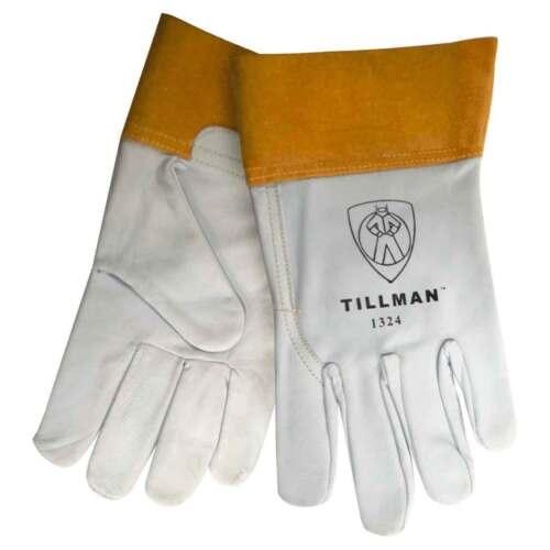 """Tillman 1324 2"""" Cuff Welding Kidskin Goatskin Leather TIG Gloves Sizes- SM-XL"""