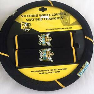 Gold Coast Titans Supporters Steering Wheel Cover and Buddies Cornubia Logan Area Preview