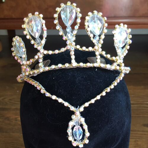 Professional Ballet Variation Tiara Headpiece AB Crystal Nutcracker YAGP Stocked