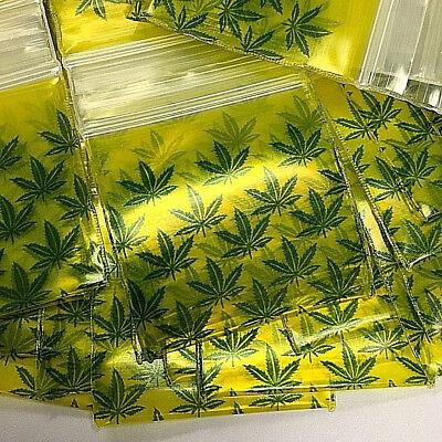 3mil 1515 1.5x1.5 100 Baggies Marijuana Leaf Mini Zip Lock Design Bags