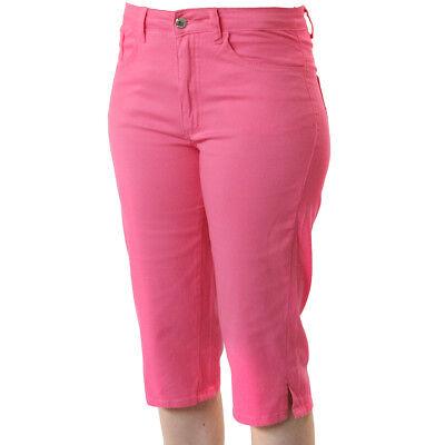Damen 7/8 Hose Melody in Hot Pink mit Lycra von Jet-Line Capri Stretch Hose Lycra Capri Hose