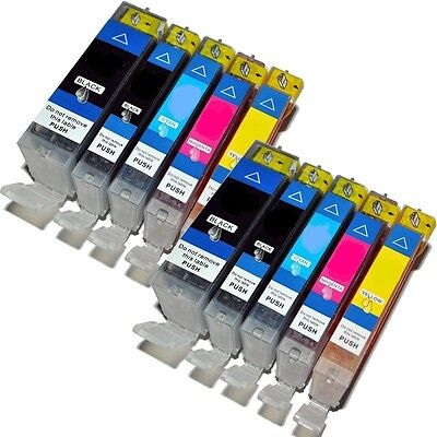 10 X Ink Cartridges Replacements For Canon Bci-3 Bci-6b Bci-6c Bci-6m Bci-6y