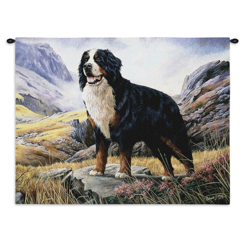 "Bernese Mountain Dog Tapestry Wall Hanging,34""x26"",Pure Country Weavers"