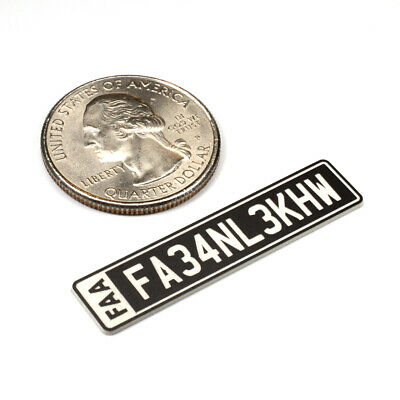 FAA DRONE REGISTRATION TAG STICKER, ENGRAVED