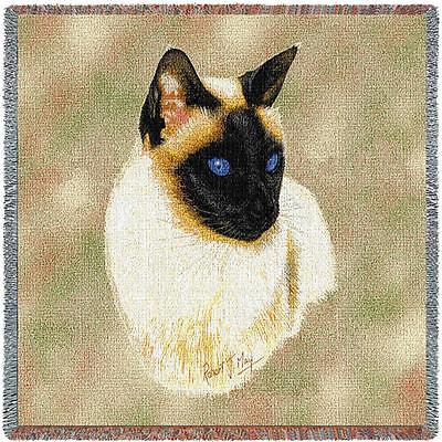 Lap Square Blanket - Siamese Cat by Robert May 1954 IN STOCK