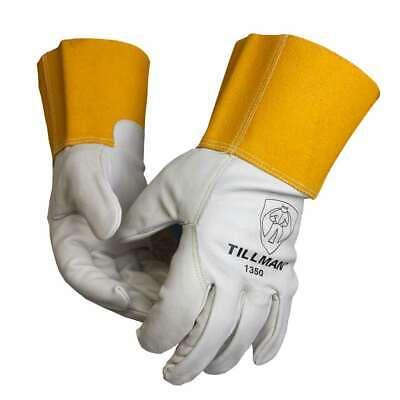 Tillman 1350 Unlined Top Grain Cowhide Mig Welding Gloves 4 Cuff Medium