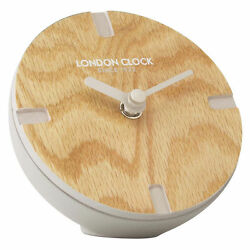 London Clock Atom Spherical Mantle Clock - Urban Luxe Collection - NIB - Wood