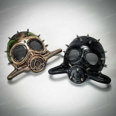 Couples Halloween Face Masks Steampunk Masquerade Cosplay Respirator Gas Masks