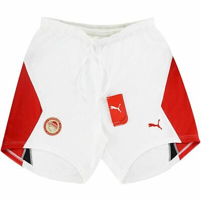 PUMA OLYMPIACOS 2005 MENS FOOTBALL SHORTS WHITE LARGE WAIST 36 - 38