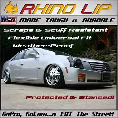 Cadillac XTS, CTS, Front Fascia Chin Lip Splitter Spoiler Edge Scrape Saver Trim