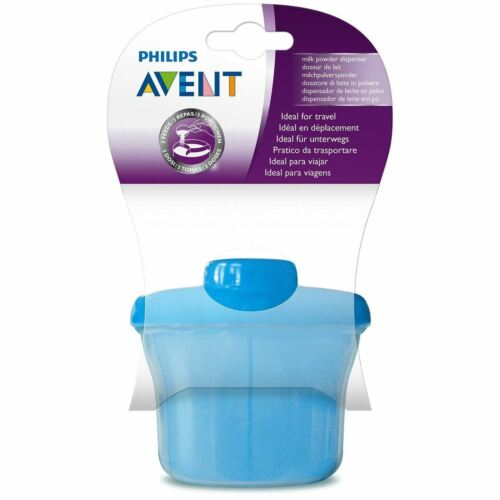 Avent - Powder Dispenser Container BLUE 3 Compartment Baby Milk Formula
