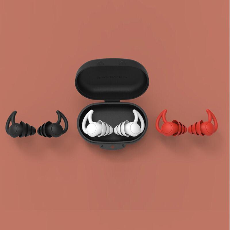 Noise Reduction Earplugs, Three-Layers Soft Reusable Anti-Noise Plugs Sleeping