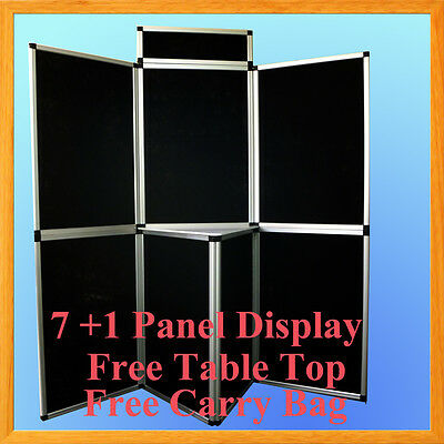 6 71 Velcro Black Panel Header Trade Show Display Presentation Tabletop 6ft