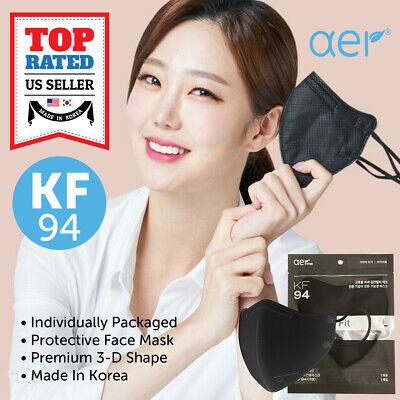 Aer Kf94 Black Face Protective Safety Mask Kfda Approved Made In Korea Sml