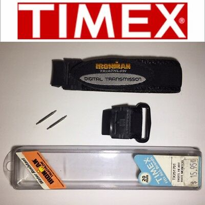 TIMEX TX251701 DIGITAL HEART RATE MONITOR BLACK 20mm WATCH STRAP RUBBER NYLON
