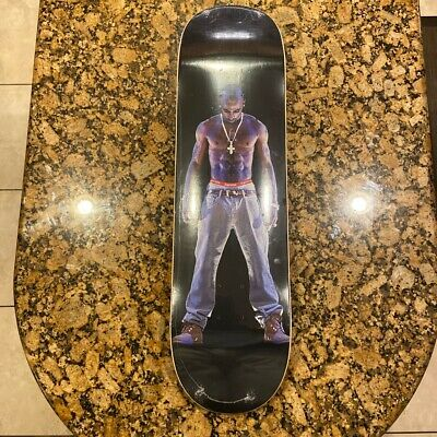 Supreme SS20 Black Tupac Hologram Skateboard Deck Size 8.5 NEW