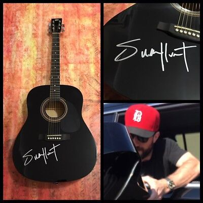 GFA Body Like a Back Road * SAM HUNT * Signed Acoustic Guitar EXACT PROOF COA