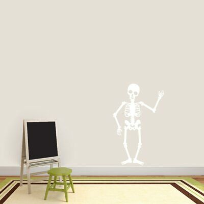 Skeleton Wall Decal - Kids, Halloween, Spooky, Seasonal, Sticker, Vinyl Wall Art - Halloween Art Kids