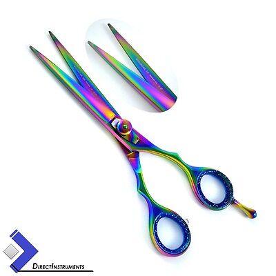 Rainbow Shears - Multi Color Rainbow Professional Barber Hair Cutting Scissors Hair Dressing New
