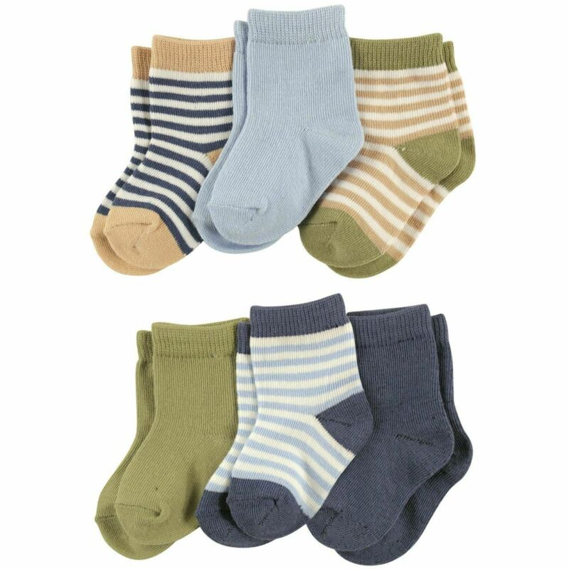 Touched By Nature Boy Organic Cotton Socks, 6-Pack, Boy