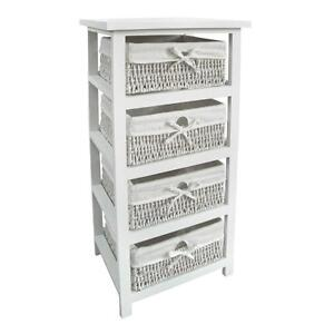 White Wicker Drawers