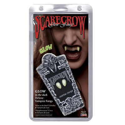 Vampire Fangs Small Glow In The Dark Deluxe Custom Fangs by Scarecrow Dracula - Scarecrow Vampire Fangs Small