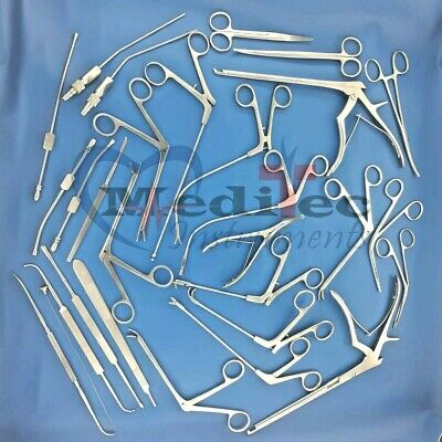 Fess Instruments Complete Set Of Endoscopic Sinus Surgery Plastic Surgery Set Mt