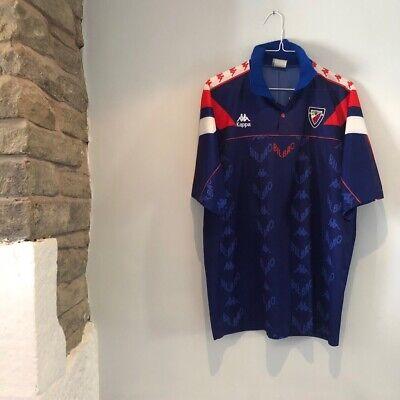 Athletico Bilbao Football Shirt Large Mens Ultra Rare Kappa 1992 Maglia La Liga  image